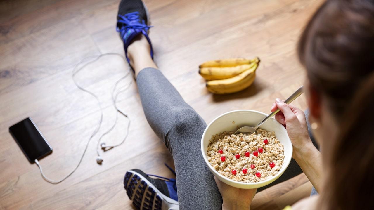 bra mat att äta innan träning