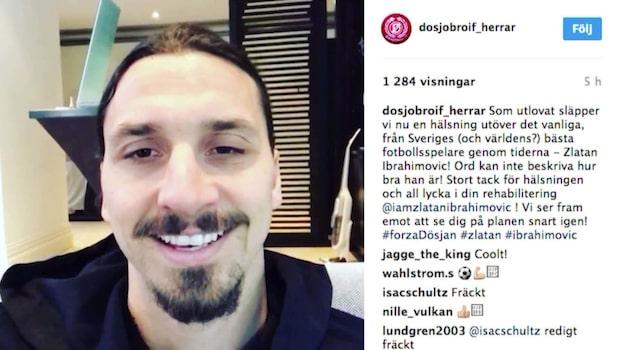 Zlatans Instagramhyllning  – till skånska småklubben