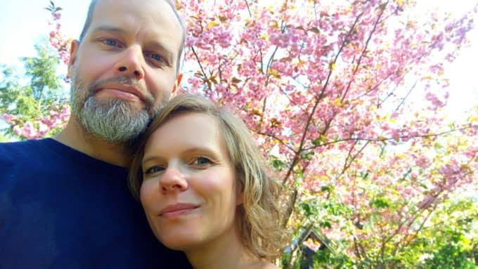 Kasper Hansen och Karina Schramm är två veganer som gör succé med veganskt bacon Foto: Privat