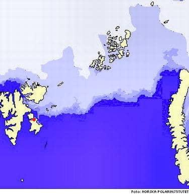 Här ser du Yume som en röd prick. Följ isbjörnarna här: Www.panda.org/about_wwf/where_we_work/