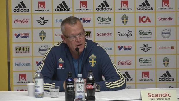 Janne Andersson: De ser högst levande ut