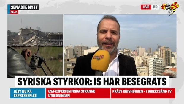 """Kassem Hamadé: """"Nu är IS en besegrad terrorgrupp i Syrien och Irak"""""""