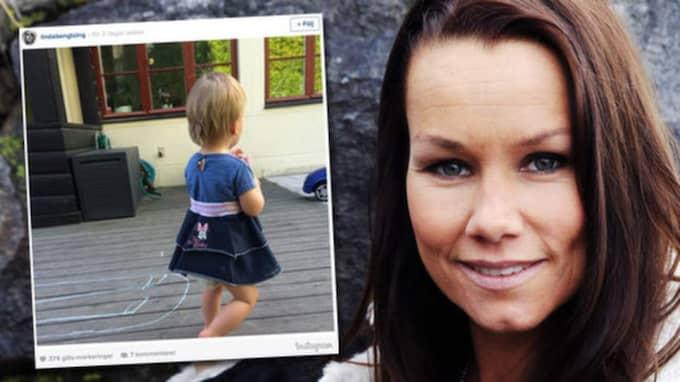 Linda Bengtzings bild på sonen i kjol gör nu succé på nätet.