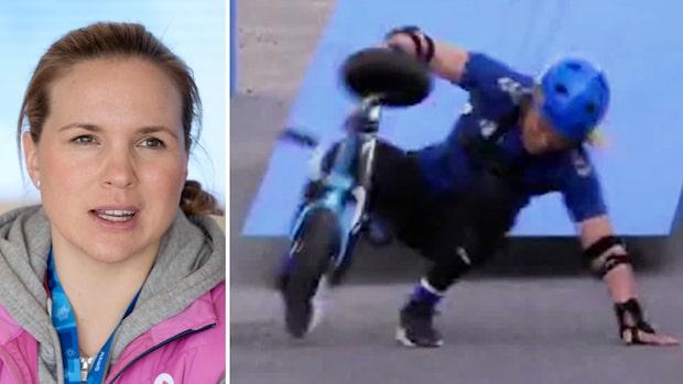 Anja Pärsons allvarliga olycka i tv