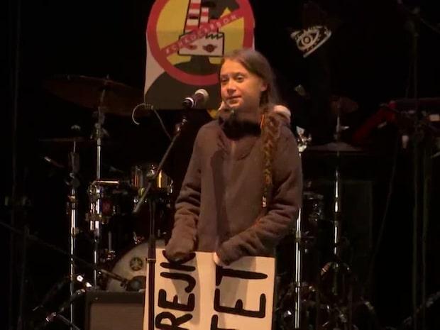 Greta talade på klimatmarsch i Madrid – 500 000 människor samlade