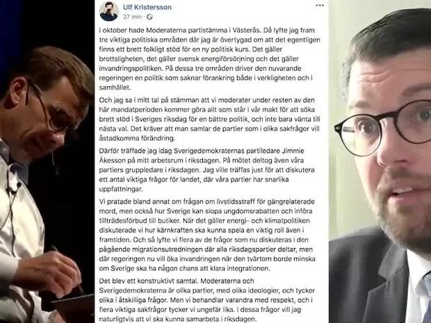 Ulf Kristersson har under dagen haft ett möte med Jimmie Åkesson