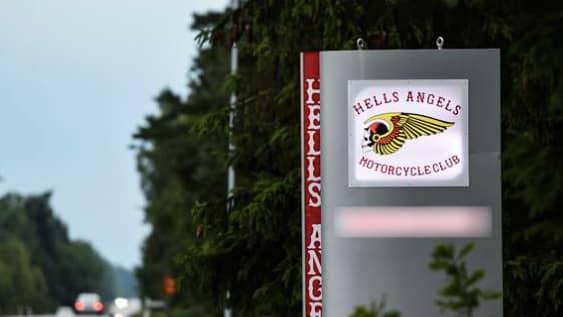 Åklagaren hävdar att den åtalade mannen använt sitt medlemskap i Hells Angels för att understryka hoten. Foto: Arkivbild