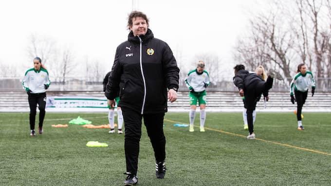 Hammarbys tränare Ann-Helén Grahm. Foto: BILDBYRÅN