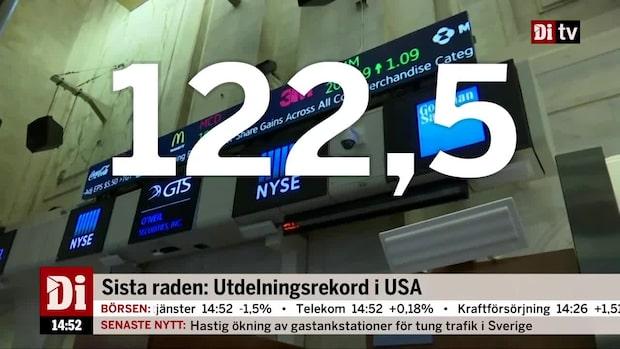 Dagens siffra: Utdelningsrekord i USA