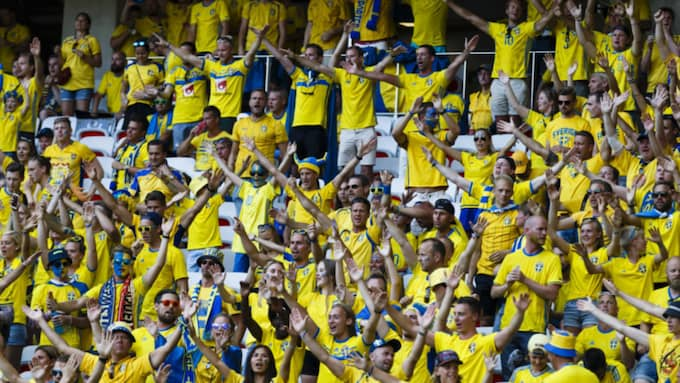 Svenska fans under EM. Foto: Daniel Malmberg / DANIEL MALMBERG/IBL IBL/ALL OVER PRESS