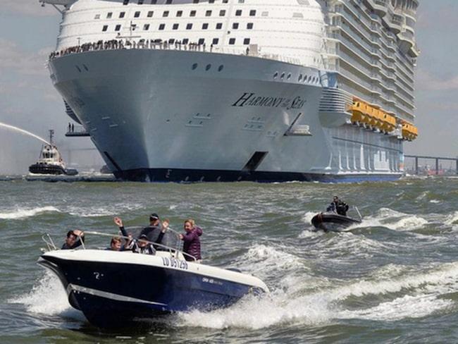 På söndagen lämnade hon den franska orten för en resa till engelska Southampton.