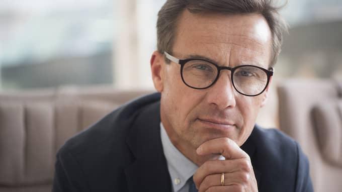 I dag berättade Ulf Kristersson att han kandiderar till partiledareposten för Moderaterna. Foto: FREDRIK SANDBERG/TT