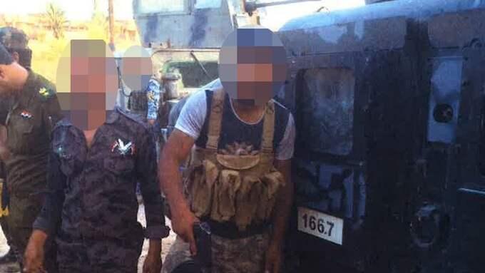 Under strider mot IS i Irak ska den 24-årige mannen poserat med en död fiendes avskurna huvud framför sig. Bilderna publicerades senare på Facebook. Foto: POLISEN