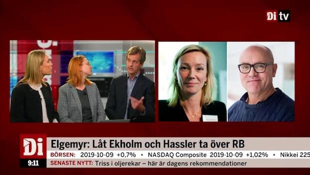Elgemyr: Låt Ekholm och Hassler ta över RB