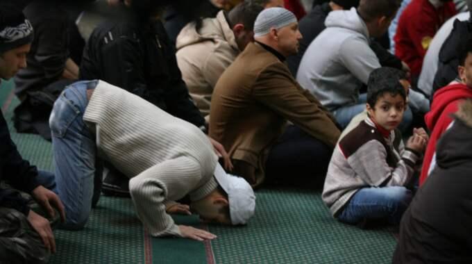 RELIGIöS VARDAG. Bönestund i moskén på Södermalm i Stockholm. Foto: Robban Andersson