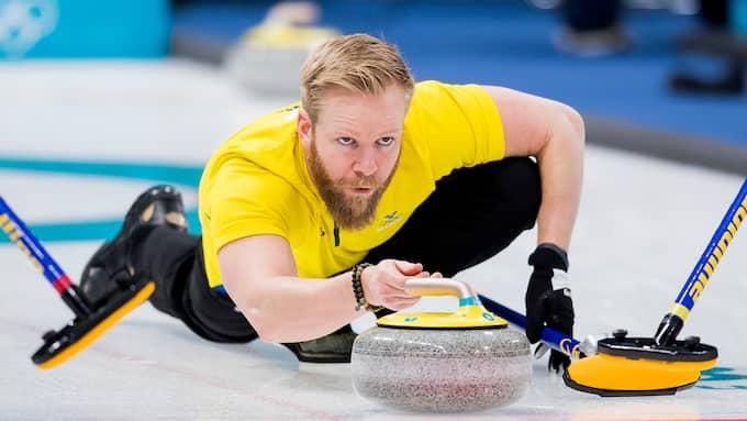Niklas Edin och hans gäng vann OS-premiären mot Danmark. Foto: PETTER ARVIDSON / BILDBYRÅN