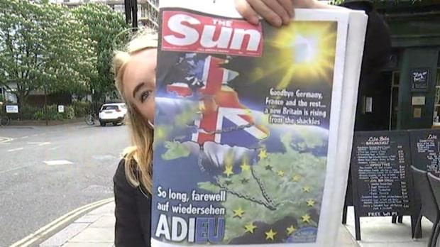 Brittiska tidningar efter Brexit-omröstningen