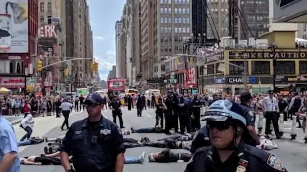 70 klimataktivister gripna i New York