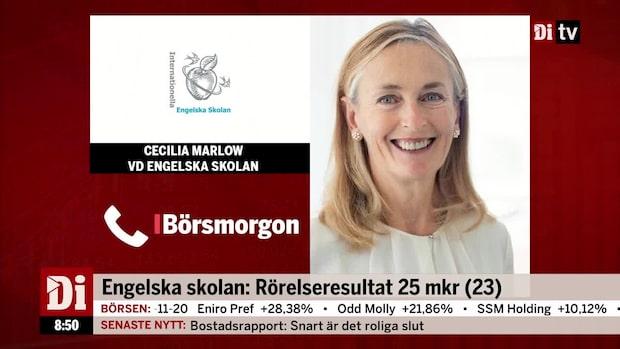 """Engelska Skolan:s vd om kvartalsrapporten - """"enligt plan"""""""