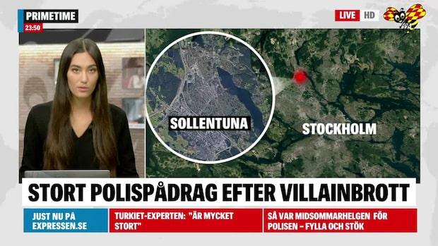 Inbrott i villa i Sollentuna –polisen jagar tjuvar med helikopter