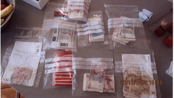 Utredningen mot Malmöföretaget uppges vara ett av de största assistansbedrägerierna i Sverige. För några sedan slog polisen till mot en liknande företag i Södertälje och beslagtog då stora summor kontanter. Foto: POLISEN