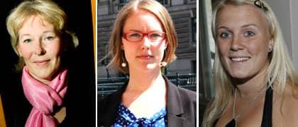 Birgitta Svendén, Beatrice Högå och Therese Albrechtson ser sig som vinnare i nya budgeten.