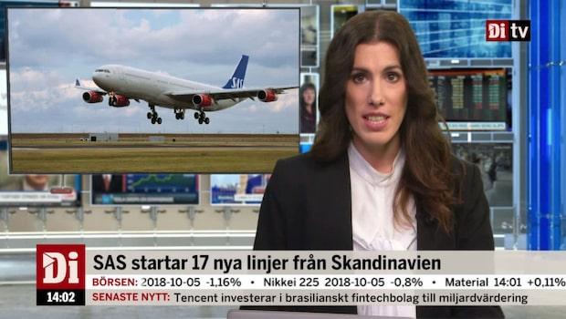 Di Nyheter 14.00 8 okt - SAS startar 17 nya linjer