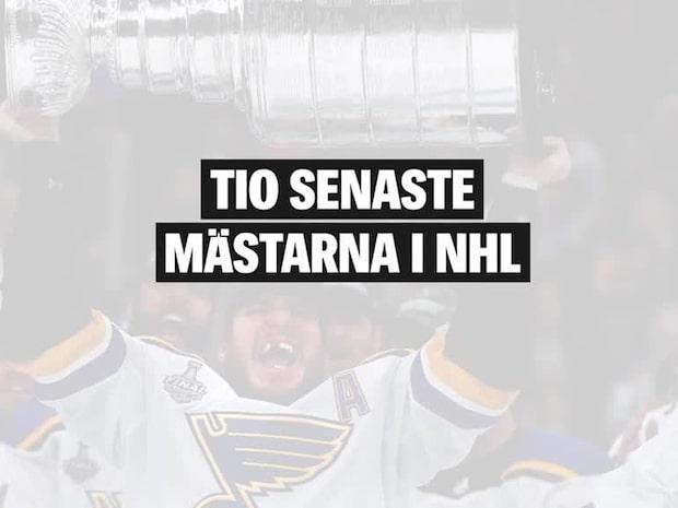 Det här är de senaste tio mästarna i NHL