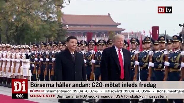 Börserna håller andan: G20-mötet inleds på fredag