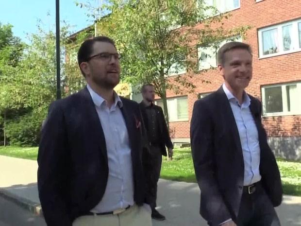Jimmie Åkesson mötte Dansk Folkeparti i Rosengård