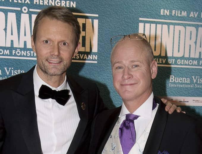 """""""Hundraåringen"""" har nominerats till en Oscar för bästa smink och hår – en revansch för Felix Herngren och Robert Gustafsson. Foto: Sven Lindwall"""