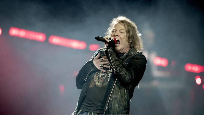 Axl Rose uppträder i Friends Arena. Foto: MAGNUS LILJEGREN / STELLA PICTURES MAGNUS LILJEGREN