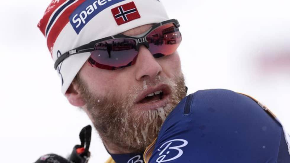 Martin Sundby skämtade friskt efter norska pallmissen. Foto: Maja Suslin/Tt