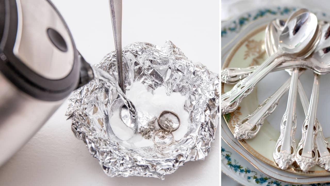 rengöra silversmycken bikarbonat