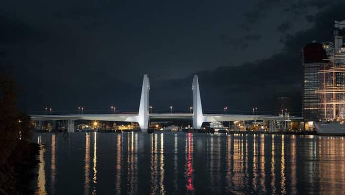 Så här är det tänkt att den nya Götaälvbron ska se ut. Foto: Tenjin Visual