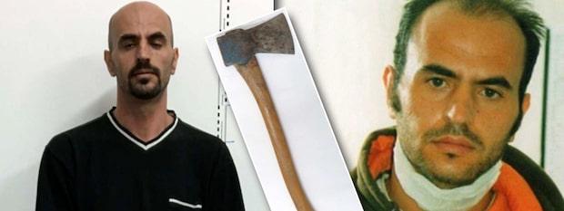 Yxmördarens förra dåd: Högg ihjäl man som sov