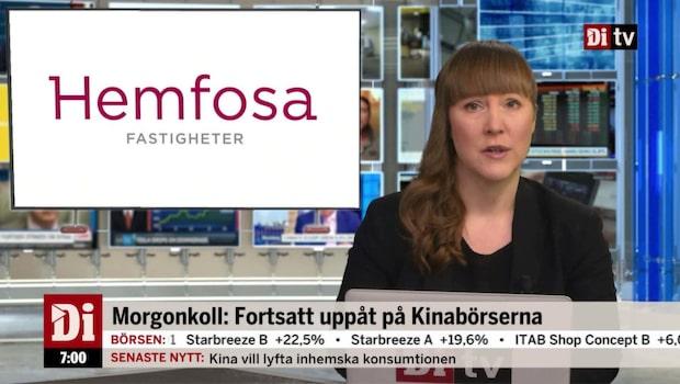 Morgonkoll: Storägare överväger att sälja hela innehavet i Hemfosa