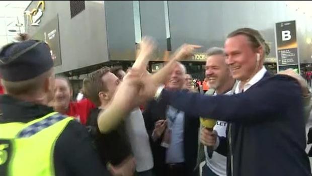 Pampen överfalls av United-fans