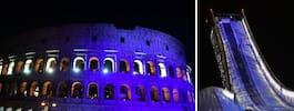 Världen tänder upp i blåvitt –för att fira Finland