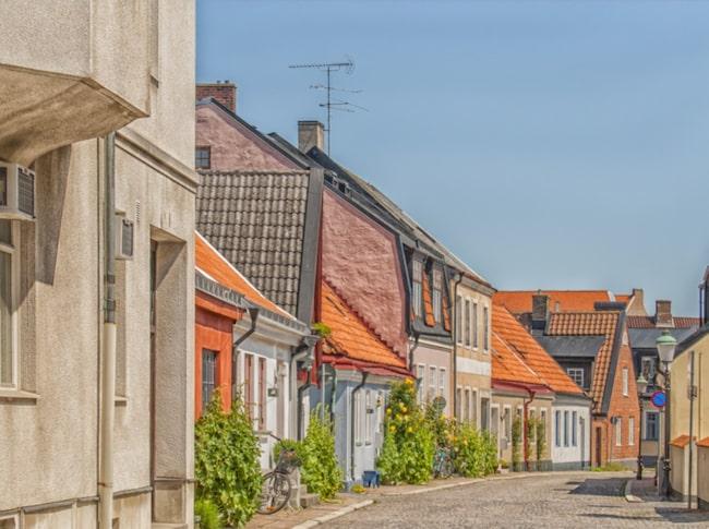 Centrala Ystad vimlar av byggnadshistoriska klenoder från 1200- till 1500-talet.