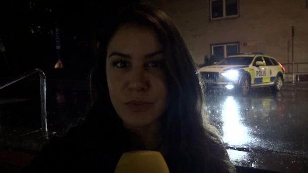 Stor polisinsats på Stora Essingen i Stockholm