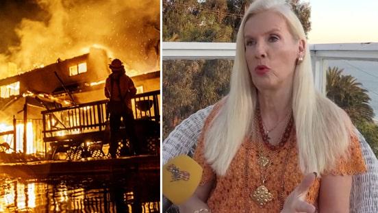 Gunilla Persson hotad av brandinfernot –oron för 93-åriga mamman