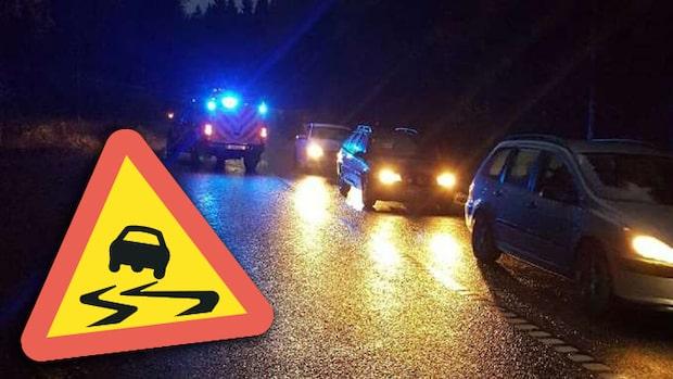 Trafikverket varnar för halka i halva Sverige