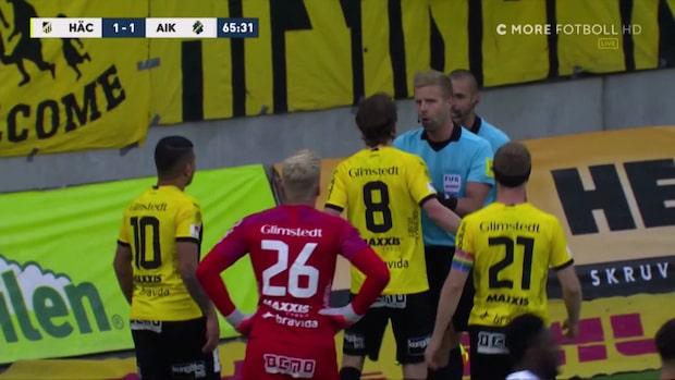 Ilska i Häcken när AIK tar ledningen på straff