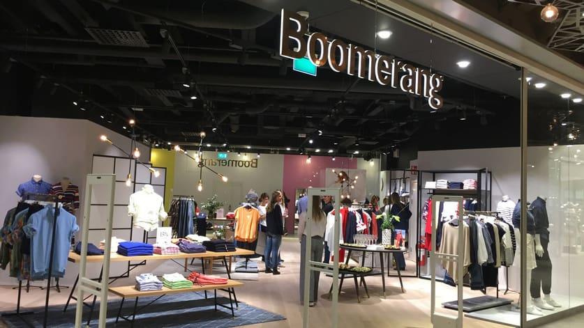 Klädkedjan Boomerang har butiker runtom i hela landet, bland på