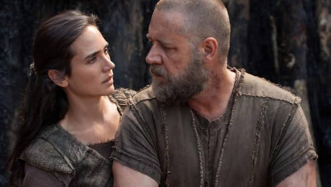 "BYGGER ARK. Jennifer Connelly och Russell Crowe i ""Noah"". Foto: Supplied By Lmk"