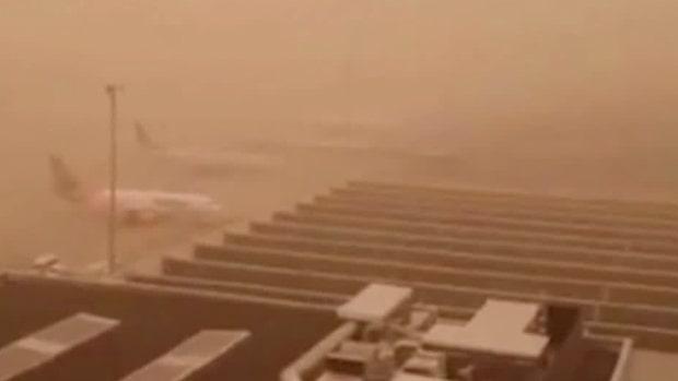 """Meteorologen: """"Lågtrycket har fört med sig sand från Sahara"""""""
