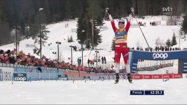 Höjdpunkter: Johaug ryckte tidigt i skiathlon