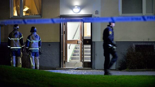 Kraftig explosion i flerfamiljshus i Norrköping