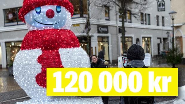 Tvingas spara – då köps snögubbe för 120 000 kr in